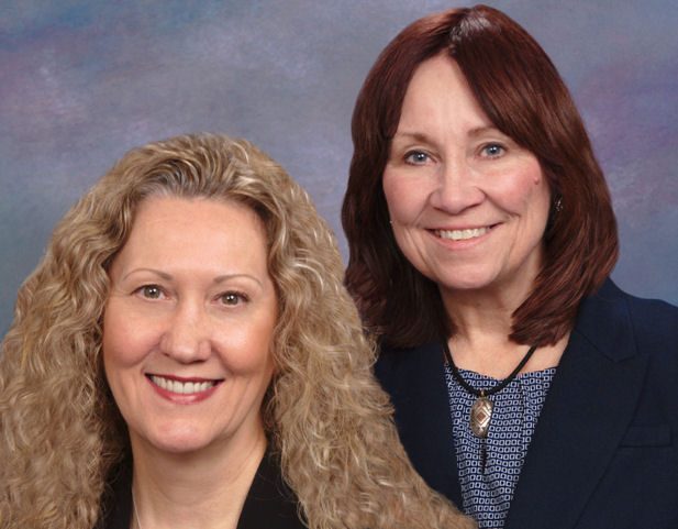 L-R, Debra M. Hollinrake, Linda Mitchell: The Tree of Health Center Partners