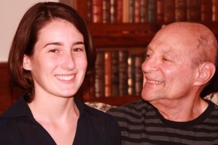 Honoree Marina Weinberger with her father, Roy