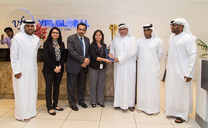 VFS Global Receives Recognition from Al-Nasr Sports Club for Commendable Service