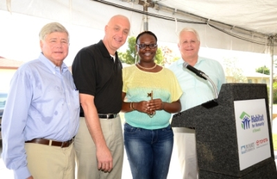 WSVN Rep and JM Family Associates Celebrate with Habitat Homeowner Asia Smith