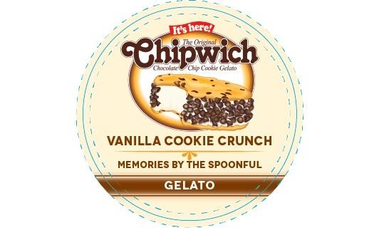 Chipwich Gelato Label Specimen