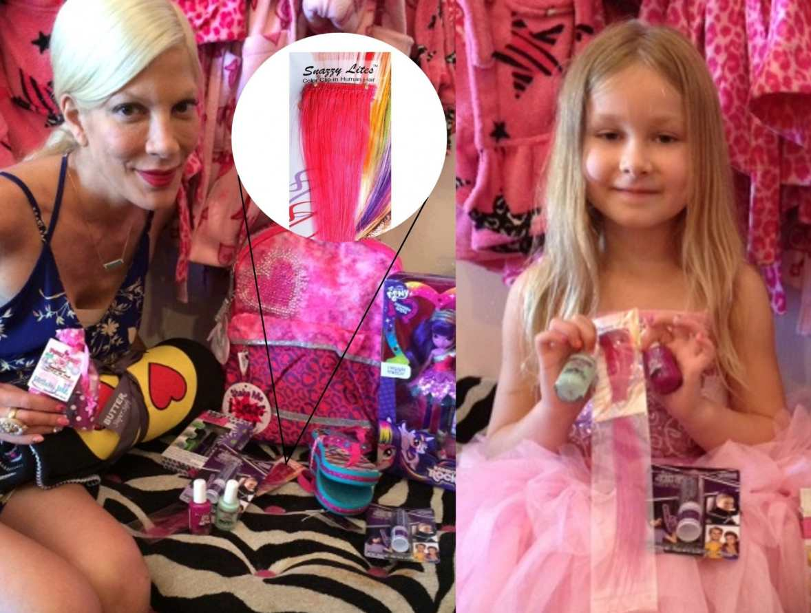 Tori surprises daughter Stella with Snazzy Lites