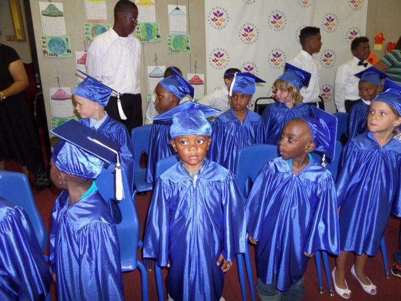 Palm Harbor Academy Kindergarten graduates in Palm