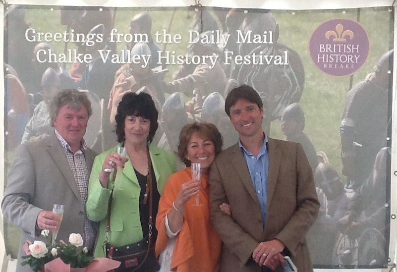 Festival visitors engage with British History Breaks giant postcard