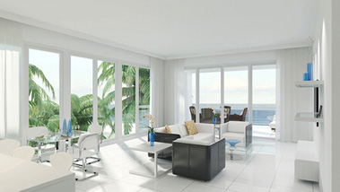 1200 The Ocean offers bright interiors and beautiful views