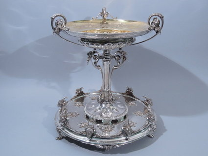 silver antique gorham coin silver centerpiece 19th