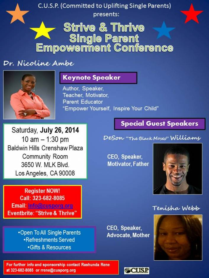 """""""Strive & Thrive"""" Single Parent Empowerment Conference"""