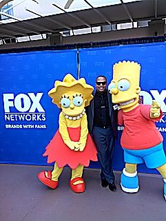Lisa Marie Simpson (L) Shon Brooks (C) Bart Simpson (R)