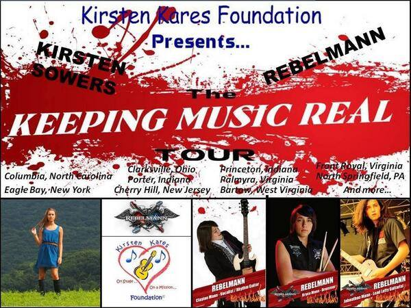 KEEPING MUSIC REAL Tour featuring Kirsten Sowers and REBELMANN®
