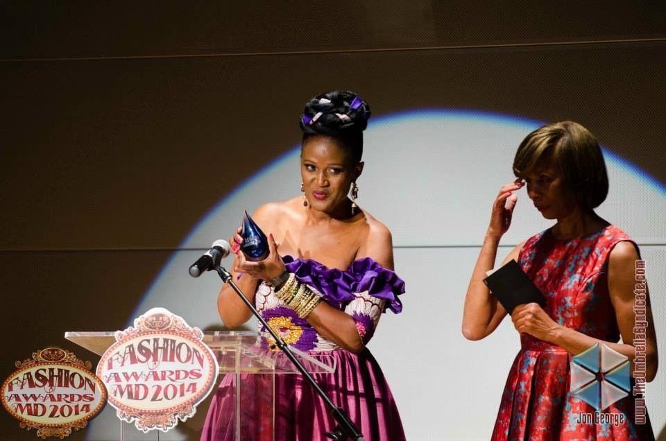 Afua Sam receiving award