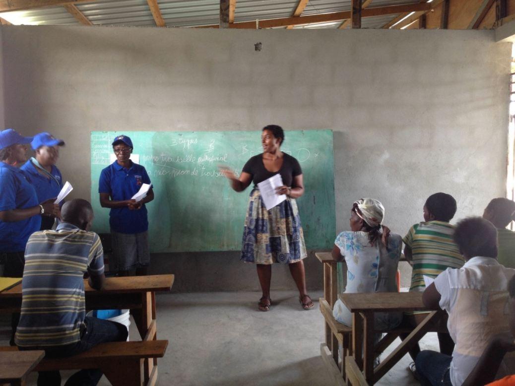 Jess Laporte leads Community Chlorinator entrepreneur training in Haiti
