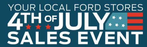 Ford July 4th Sales Event - Westland Ford Ogden