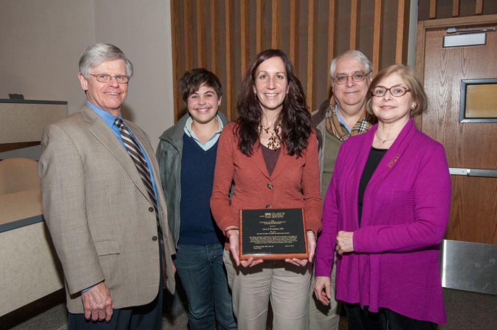 Dr. Alison Doubleday (center).