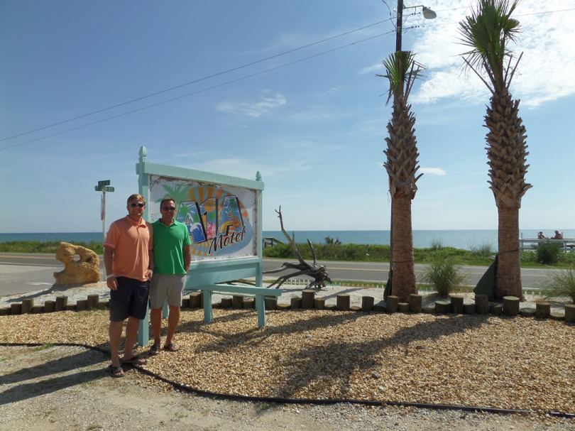 A1A Motel manager Danny Meyer (right) and new co-owner Jeff Meyer.