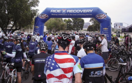 Start finish line for 2013 Ride 2 Recovery at a Road BIke 4U in Irvine