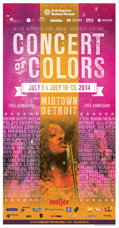 14th Annual Concert Of Colors Poster