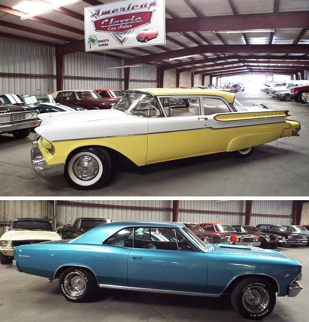 1957 Mercury and 1966 Chevrolet Chevelle
