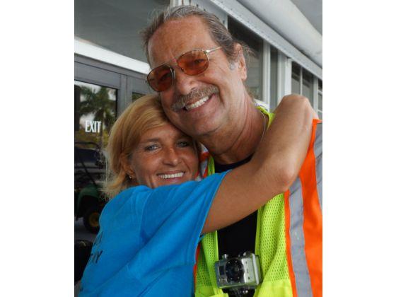 Mycle with survivor, Sharon O'Neal