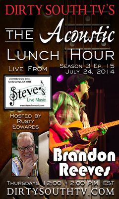 The Acoustic Lunch Hour Season 3 Episode 15 featuring Brandon Reeves