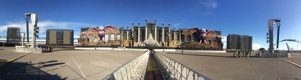 Lasertainment at EDC Las Vegas 2014 - Main Stage Panoramic View