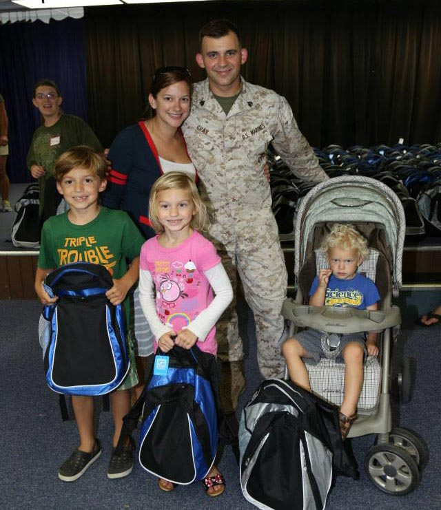 Military Family Receives Free Backpack