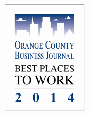 Orange County's Best Places to Work Award