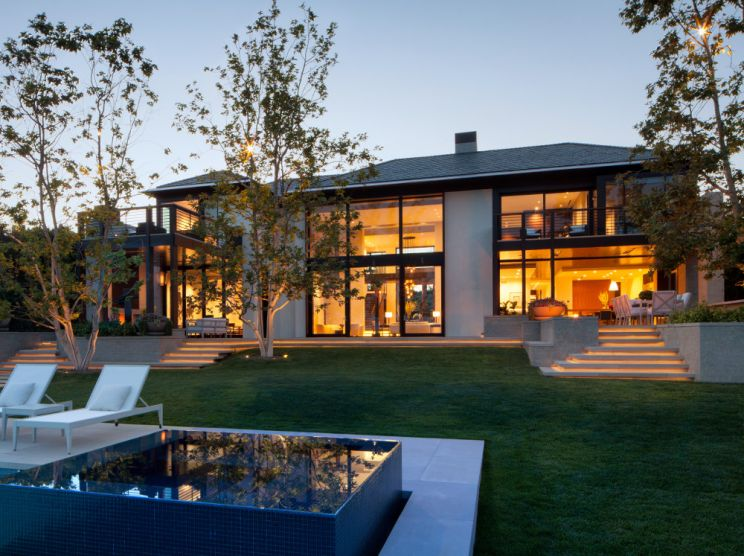 Luxury Residence featuring custom bronze clad windows and doors.
