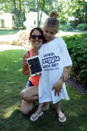 Siena iPad Winner and Gianna Swiggle T-Shirt Model