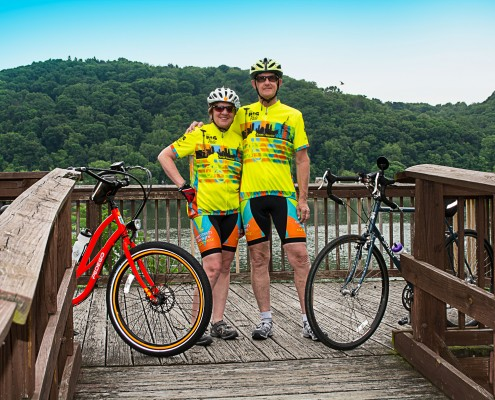 The Rogers take a break on their Big Ride Across America.