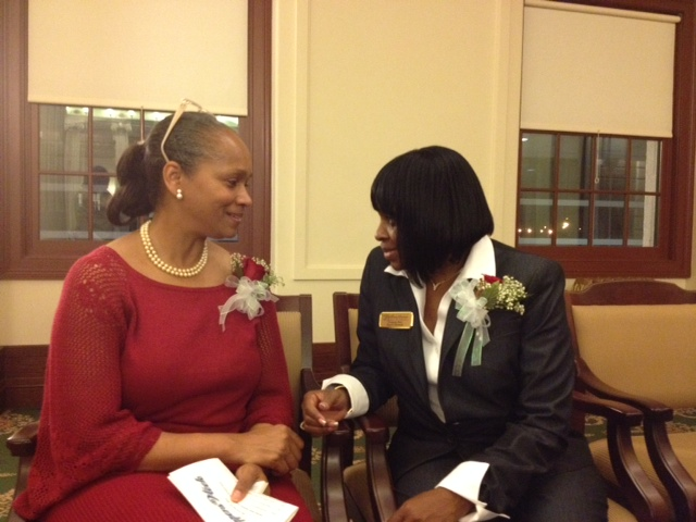Shelly Brazley gives  advice to Vanessa Best about Nassau County  Certification