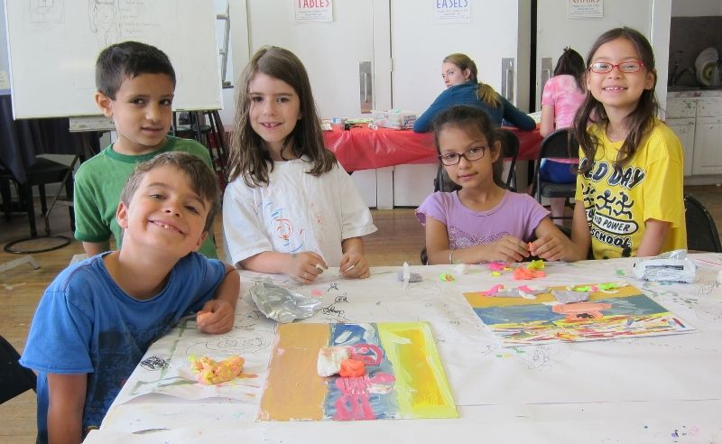 Campers enjoy summer art camp week 1 at The Center for Contemporary Art