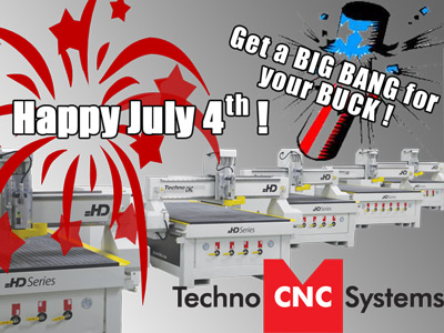 Save $500 on Tooling with the Purchase of a Techno CNC Router