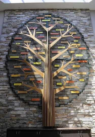 "Banker Wire forms Fox Valley Technical College's ""Tree of Success"" sculpture."