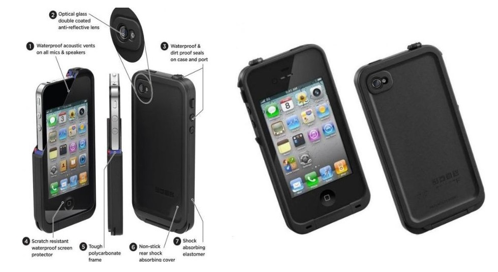 iPhone 5s Waterproof Tough Case