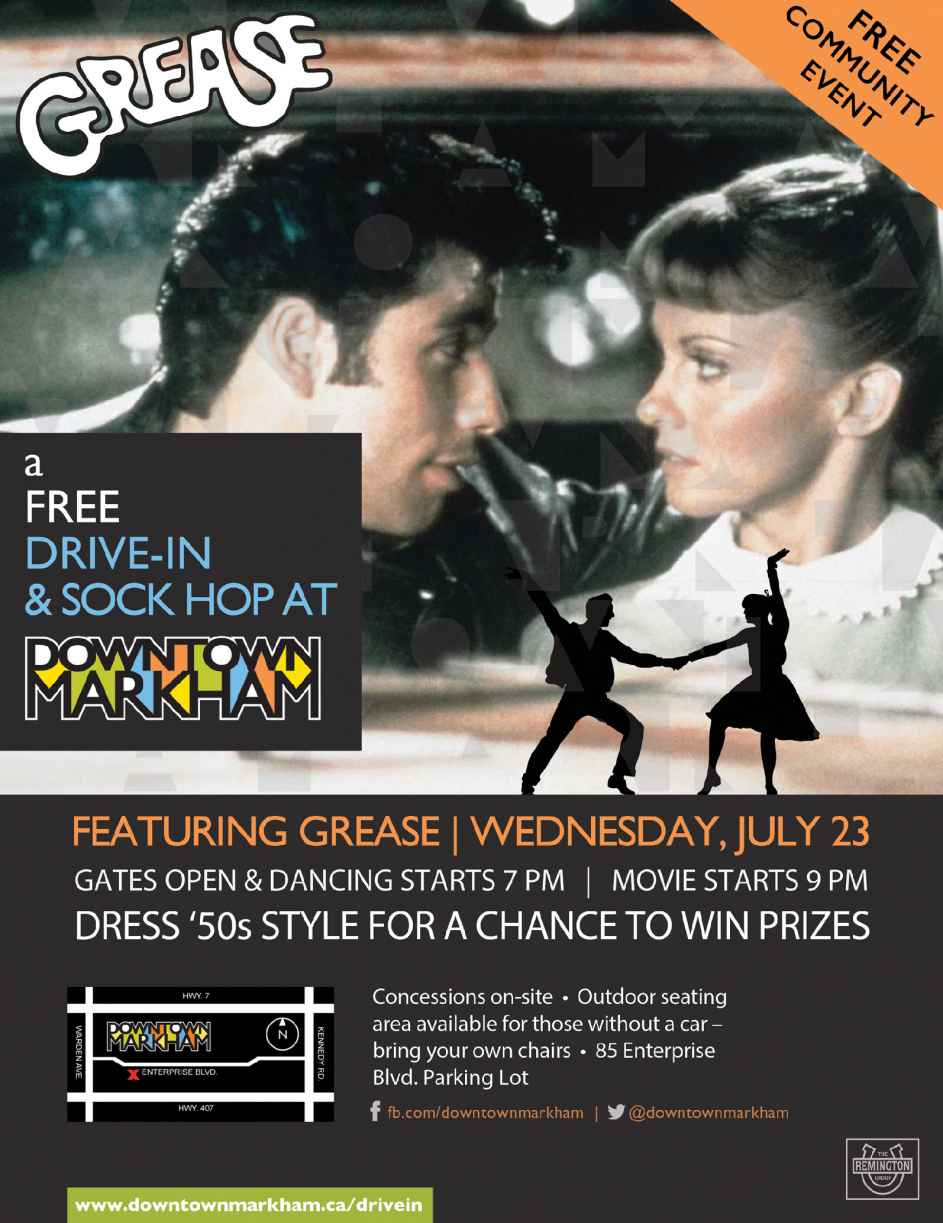 FREE Drive In and Sock Hop in Downtown Markham