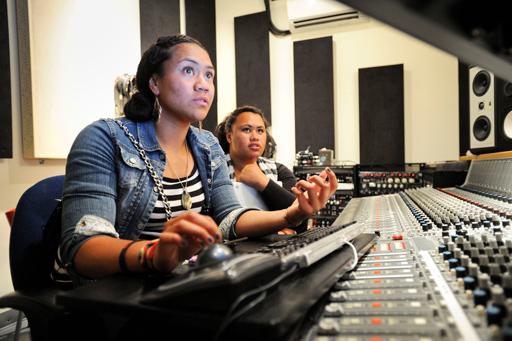 Teens Learning Recording Engineering