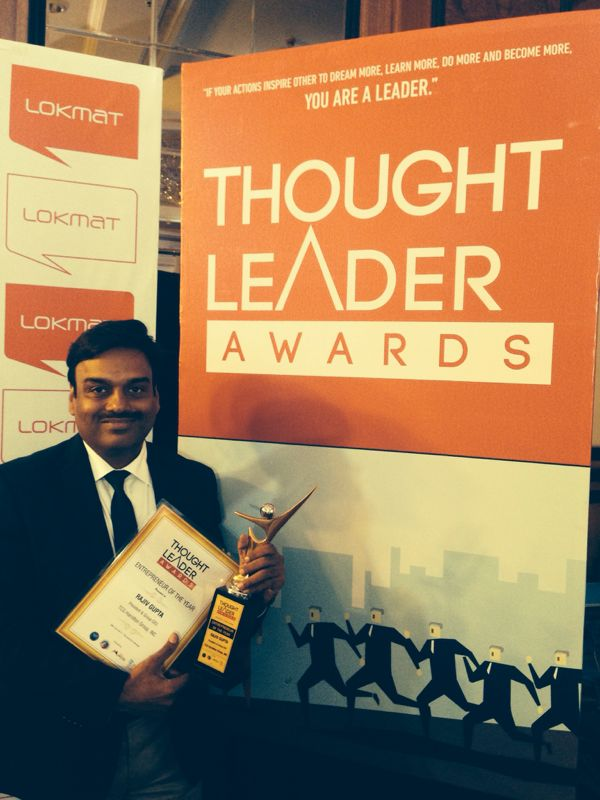 Rajiv Gupta, the proud recipient of the Award