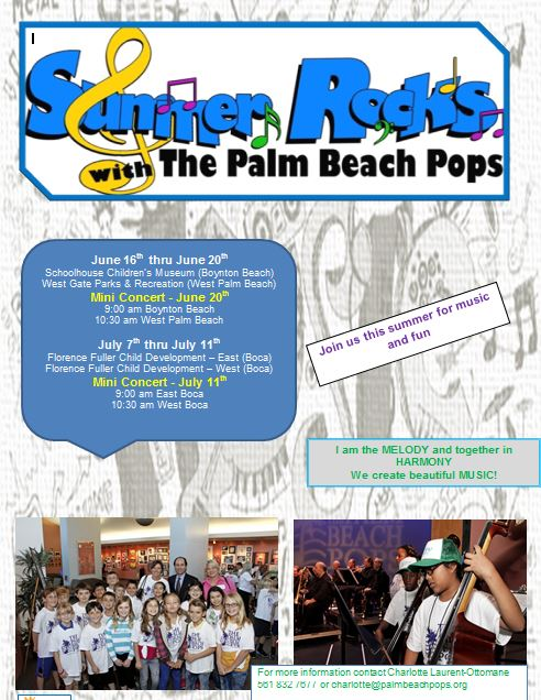 Summer Rocks Mini-Concert Flyer from The Palm Beac