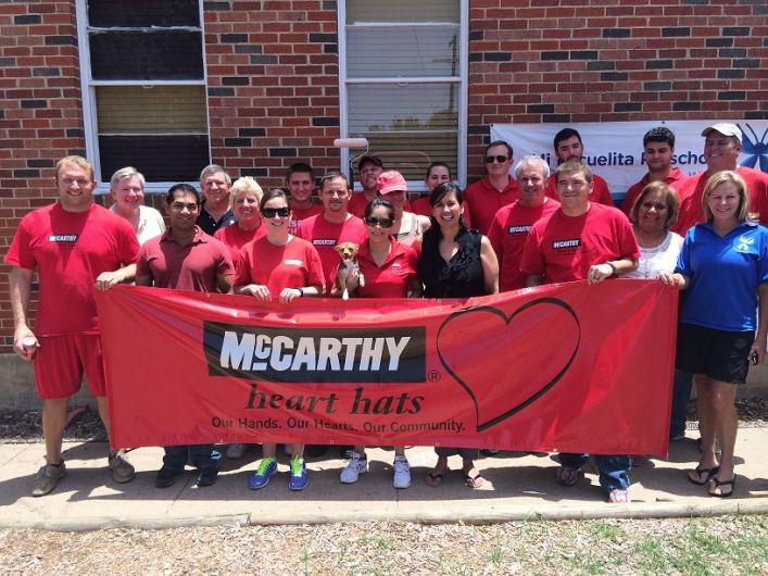 McCarthy Building Companies Texas Division employees and Mi Escuelita Staff