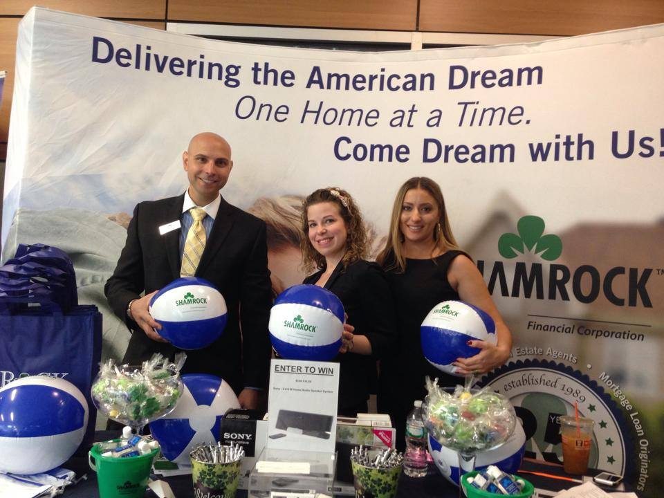 Ron Volpe, Shalimar Albanese and Jaclyn Ferri at the RIAR REALTOR Expo in June.
