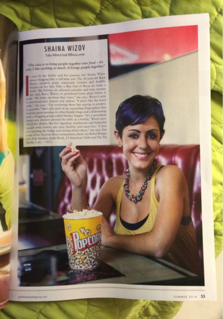 Shaina Wizov in Boca Life Magazine