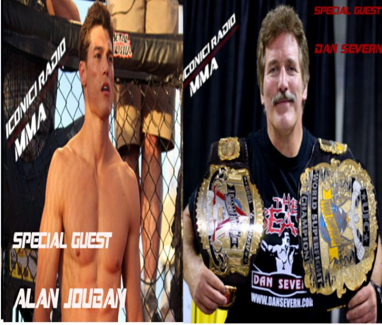 Alan Jouban n Dan Severn Iconici Radio MMA