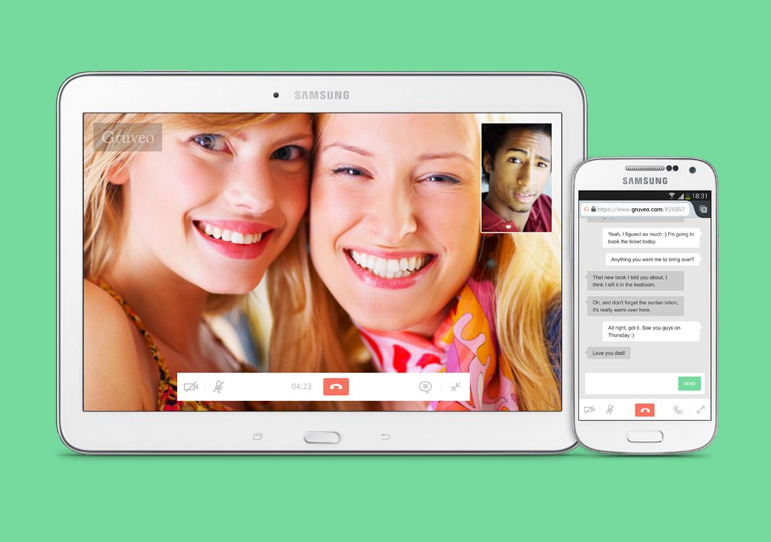 Gruveo 2.0 allows to make easy video calls on desktop and Android.