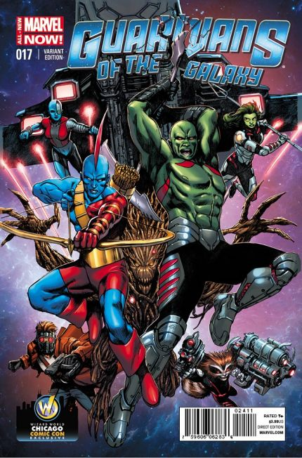 'Guardians of the Galaxy #17' Exclusive Variant Cover By Alvaro Martinez