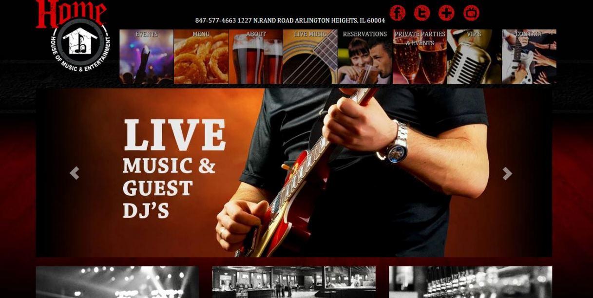 H.O.M.E Bar Website