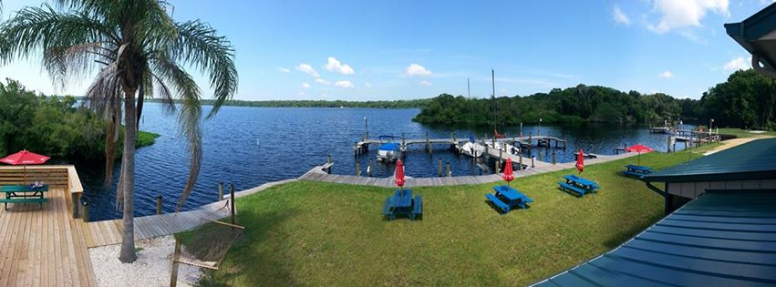 The view from the top of Bull Creek Fish Camp in Bunnell, FL.