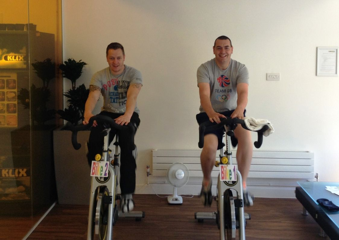 Chris Meir and James Porter hit the pedals to raise funds for Marie Curie