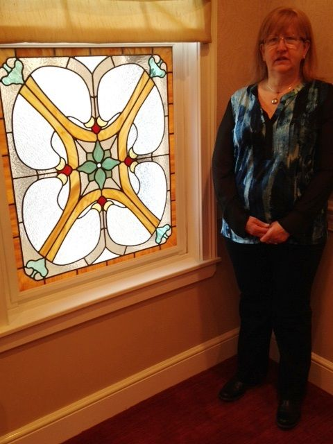 Stained glass windows at Pat Roche Hospice Home