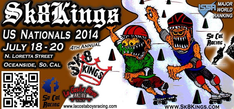 Sk8Kings US Nationals Slalom Skateboard Racing 2014