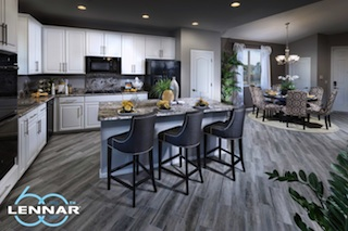Kitchen of the 2,334 sq. ft. Plan at West End